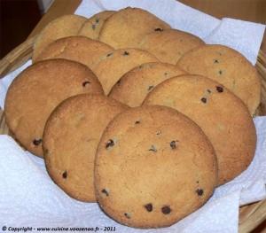 Cookies aux pépites de chocolat panier