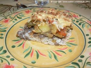 Gratin Camarguais sur assiette