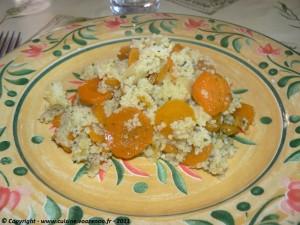 Couscous aux carottes présentation