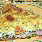 Tarte fromagre aux champignons et courgettes