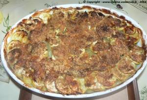Gratin de courgettes,pommes de terre au bouillon photo4