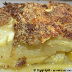 Gratin de courgettes &#8211; pommes de terre au bouillon