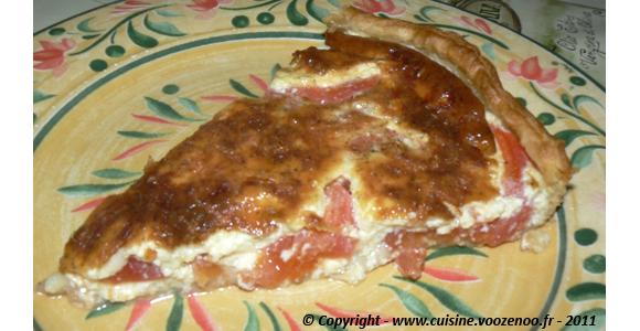 Tarte à la tomate et mozzarella une