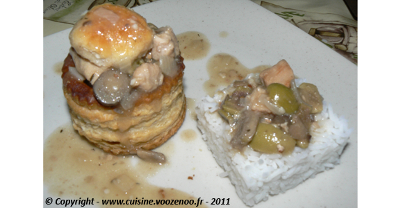 Vol au vent de veau sauce financiere slider