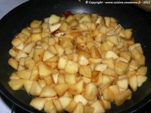 Sablés aux pommes caramélisées fondants etape1
