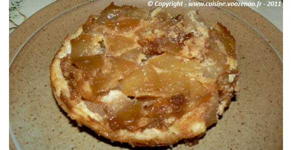 Sablés aux pommes caramélisées fondants une