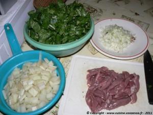 Pastilla aux aiguillettes de canard et aux blettes etape1