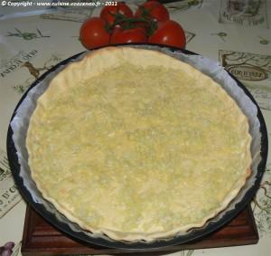 Tarte à la tomate et roquefort etape2