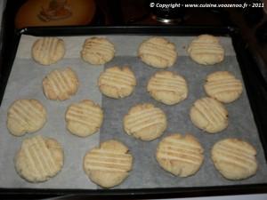 Petits sablés noix de coco chocolat etape6