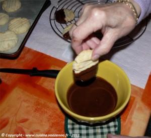 Petits sablés noix de coco chocolat etape7