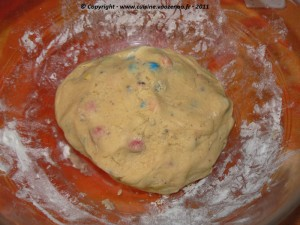 Cookies aux M&M's etape1