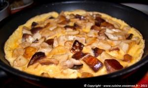 Omelette aux cèpes presentation