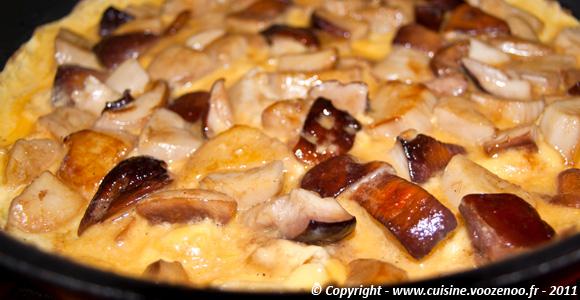 Omelette aux cèpes une