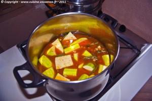 Couscous sauce rouge etape1