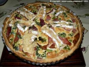 Tarte aux brocolis et camembert presentation
