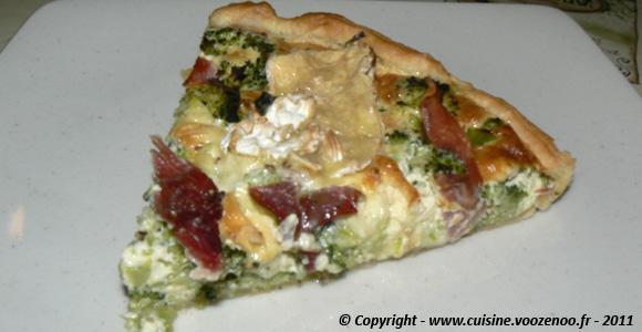 Tarte aux brocolis et camembert