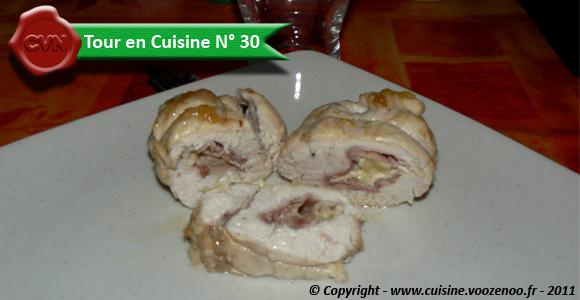 Cordon bleu de poulet au jambon de Bayonne et camembert – Tour en Cuisine N° 30