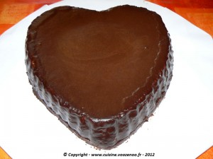 Coeur de chocolat fin