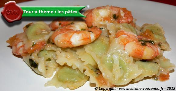 Ravioles sauce provençale et gambas une