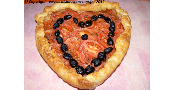 Coeur feuilleté de tomates