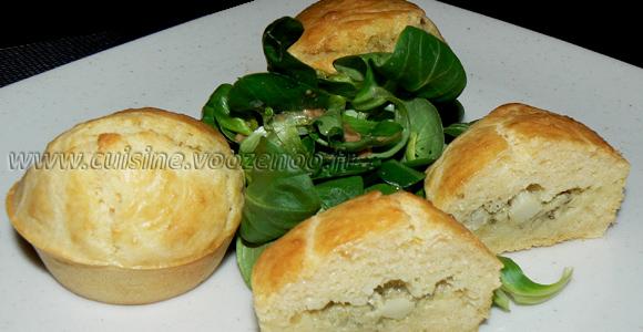 Muffins coeur d'artichaut et zestes de citron