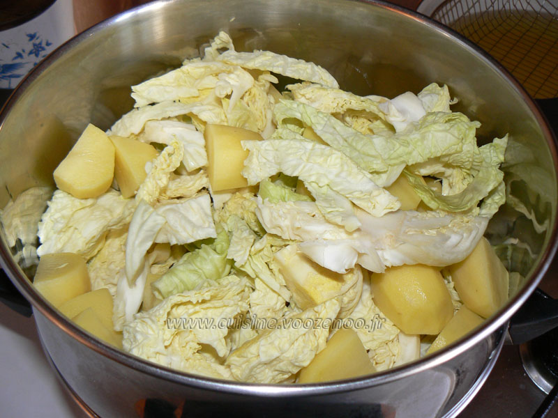 Gratin de chou vert et pommes de terre une cuisine pour - Choux de bruxelles recette gratin ...