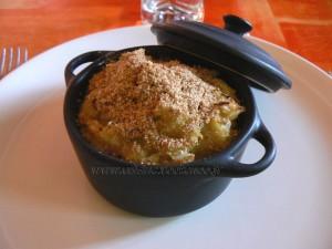 Gratin de chou vert et pommes de terre presentation