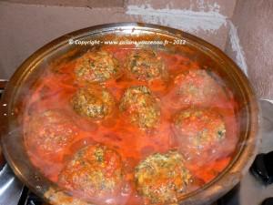 Boulettes d'épinards au poulet en sauce etape5