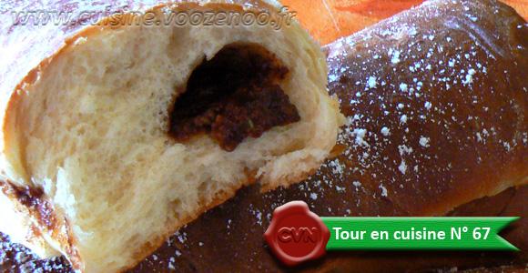 Baguettes viennoises fourrées au Daim une