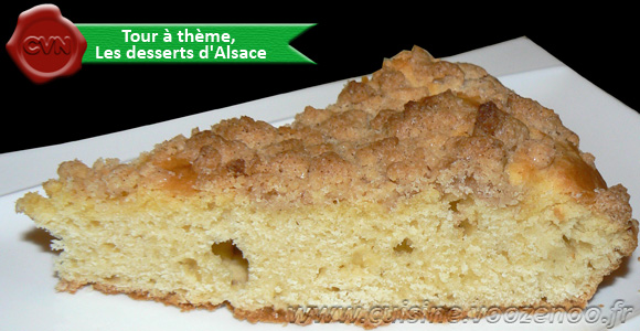 Gateau de streusel une