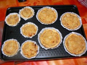 Tartelettes aux poires fin