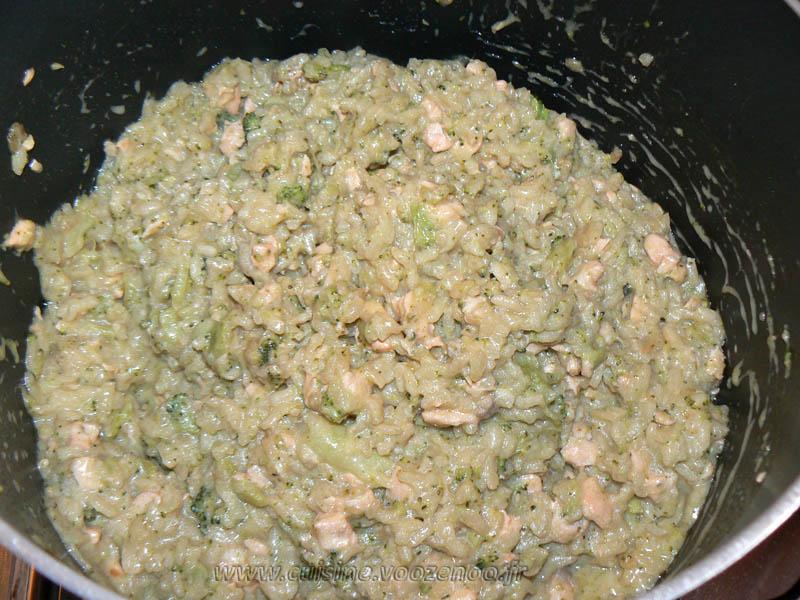 risotto au brocolis saumon et parmesan une cuisine pour. Black Bedroom Furniture Sets. Home Design Ideas