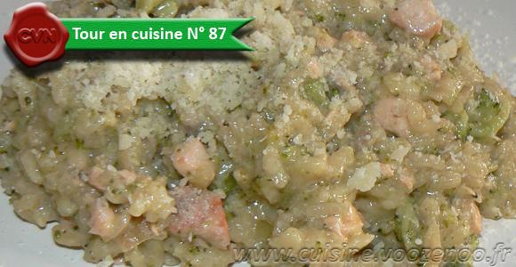 Risotto au brocolis, saumon et parmesan une