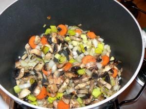 Lapin sauce poulette etape2