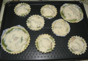 Tartelettes bananes kiwis et coco etape2