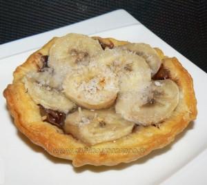 Tartelettes aux bananes et nutella presentation