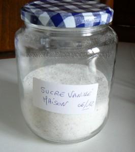 Sucre vanillé maison presentation