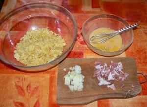 Brochette de tortilla de patatas au jambon cru etape1