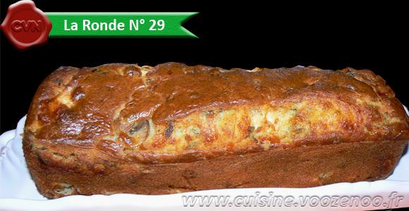 Cake aux blancs de poulet, champignons et mozzarella une