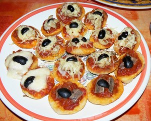 Pizzas frites presentation