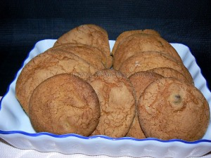 Cookies aux grains de cafe enrobes au chocolat fin