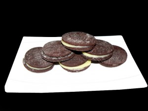 Biscuits façon oreo presentation