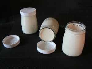 Yaourt vanille et sirop d'érable presentation