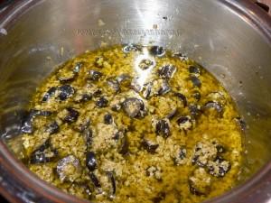 Pennes aux deux olives etape1