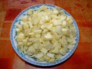 Tourte aux pommes glacee etape1