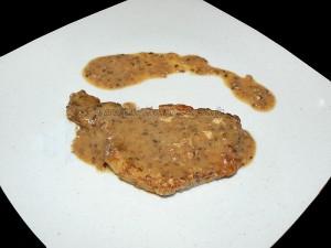 Côtes de porc sauce sesame presentation