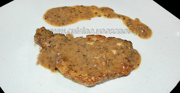 Côtes de porc sauce sesame une