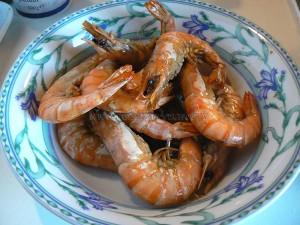 Tagliatelles gambas et fruits de mer etape1