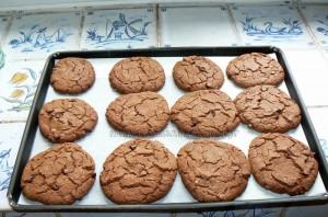 Cookies au nutella fin