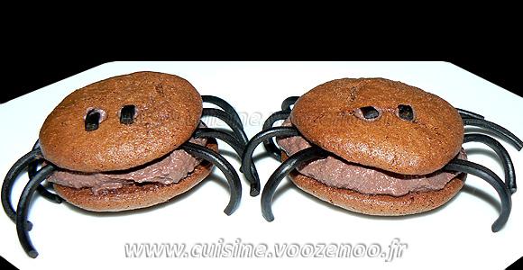 """Whoopies """"araignees"""" au chocolat une"""